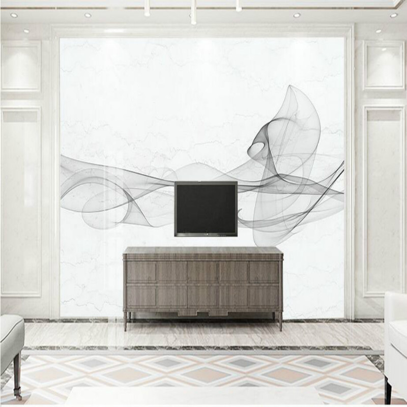 Custom Home Improvement 3D Wallpaper for Walls 3d Modern Simple Abstract Black White Lines Wall Paper Background Painting Murals custom photo 3d ceiling murals wall paper blue sky rose flower dove room decor painting 3d wall murals wallpaper for walls 3 d