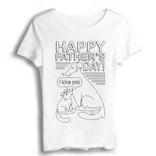 Fathers Day Gift T Shirt Women Sexy & Club Vintage t shirt Own Logo Print T-shirts Modal Casual Jersey Appliques Short