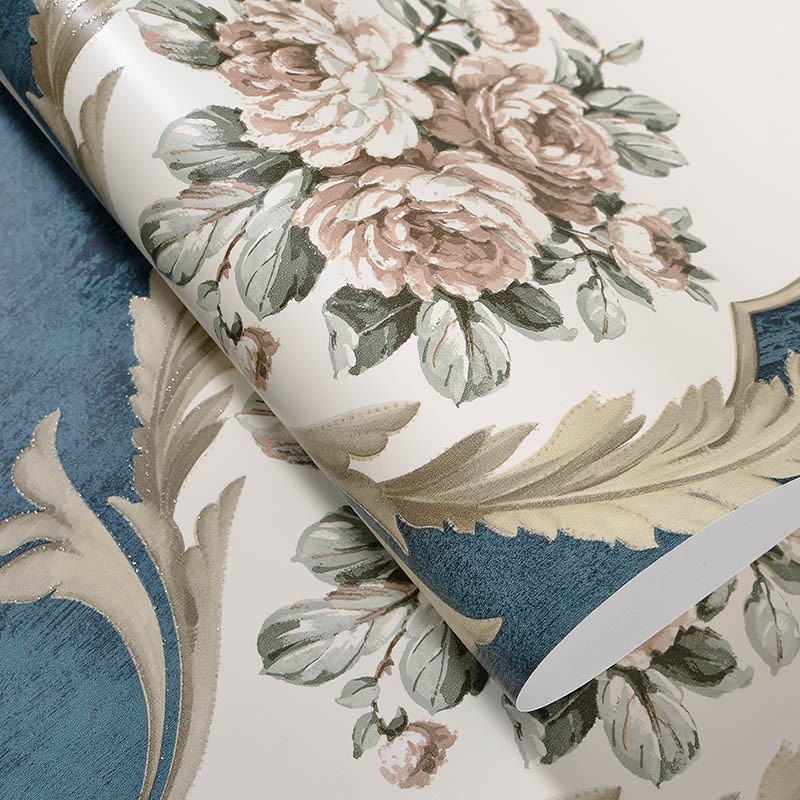 American Wallpaper Vintage Rustic Floral Wall Paper for Walls Non-woven Wallpapers for Living Room,Bedroom Wallpaper 3D Flower damask wallpaper for walls 3d wall paper mural wallpapers silk for living room bedroom home improvement decorative