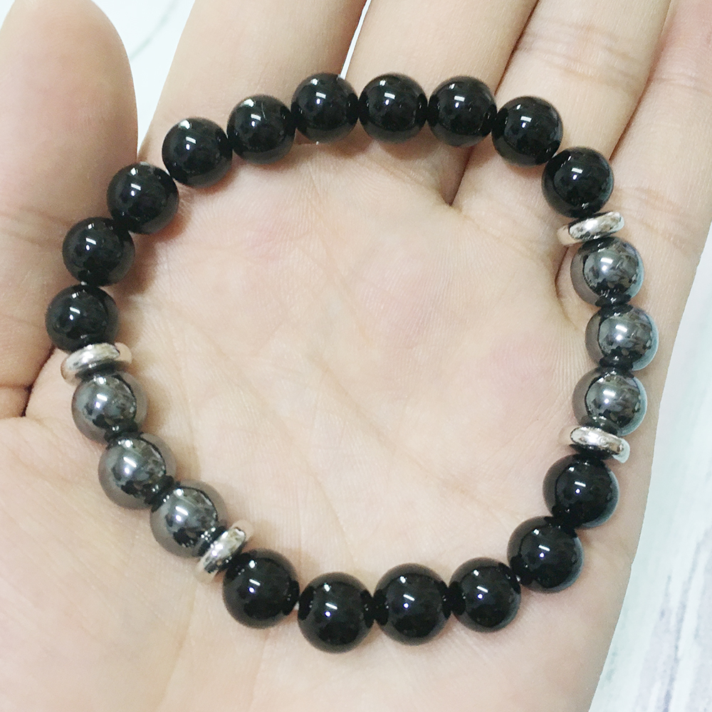 Black Tourmaline & Hematite Bracelet