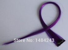 1 unids Nuevo partido 21 «long solid color postizo uno cabelo clip en extensiones de cabello 12 colores disponibles sintético pelo falso