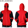 Deadpool Hoodies Marvel Comic Wade Wilson Hooded Sweatshirt Cosplay  Zipper Outerwear Jacket Winter Anime Characters 3D Hoodie