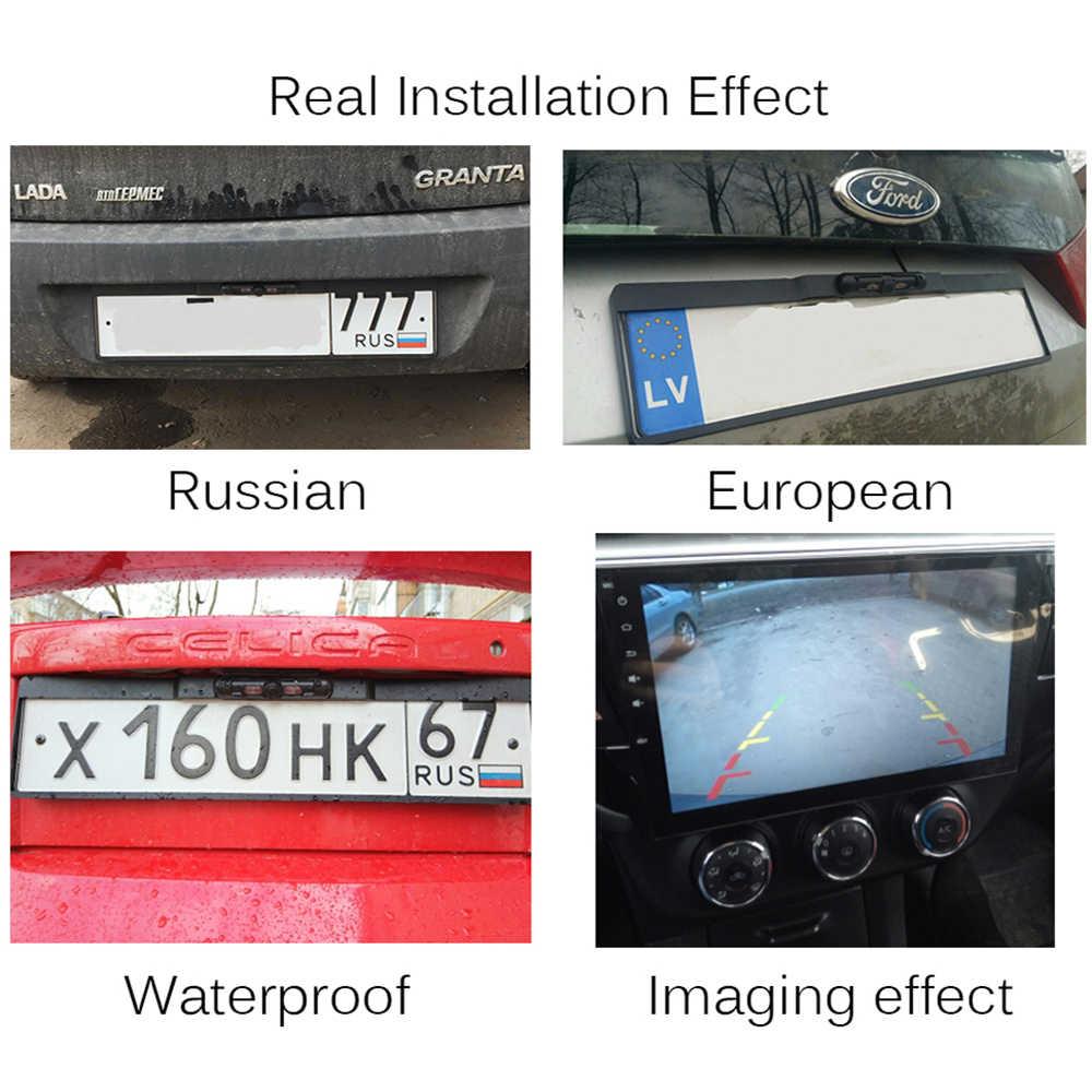 Wireless Night Vision IR Rear View camera EU License Plate Frame Car  Reverse Camera waterproof Back Up Camera for monitor gps