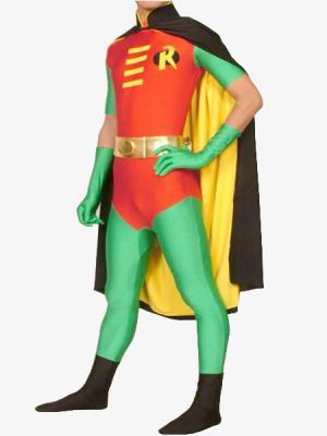 Robin cosplay costume pour adultes Halloween costumes pour hommes batman super-héros cosplay Spandex Zentai body complet avec cape