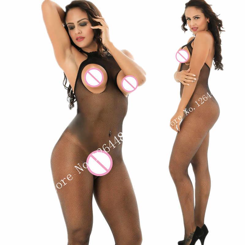 נשים פתוחה שחור בגד גוף Rompers נשים סרבל סקסי תליית מועדון הלטר פרספקטיבה צבע צורת גוף מכנסיים סרבל