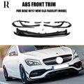 Cla45 стиль ABS передний спойлер с боковым разделителем Canards фартук для Benz W117 New Cla200 CLA260 CLA45 AMG Facelift 2017 UP