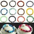 Unisex Women Men New Fashion 2016 Charming Lava Turquoise Beads Onyx Yoga Buddha Bracelet Jewelry Gift