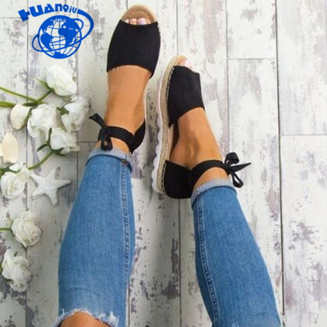 New Hot Summer Rome Solid color Strap Ankle flat Women Sandals fashion Leisure Peep Toe Gladiator party Woman shoes JDD79