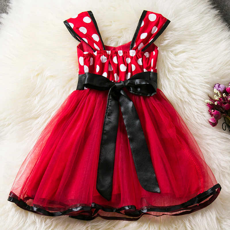 Minnie Mouse Christmas Dress.New Girl Birthday Party Dress For Halloween Cosplay Minnie Mouse Dress Up Kid Christmas Costume Baby Girls Clothing For Kids