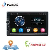 Podofo 2 Din android-автомобильный Радио Стерео 7 «игрок автомобиля gps навигации Wi-Fi Bluetooth USB Радио Аудио плеер Сенсорный экран мультимедиа