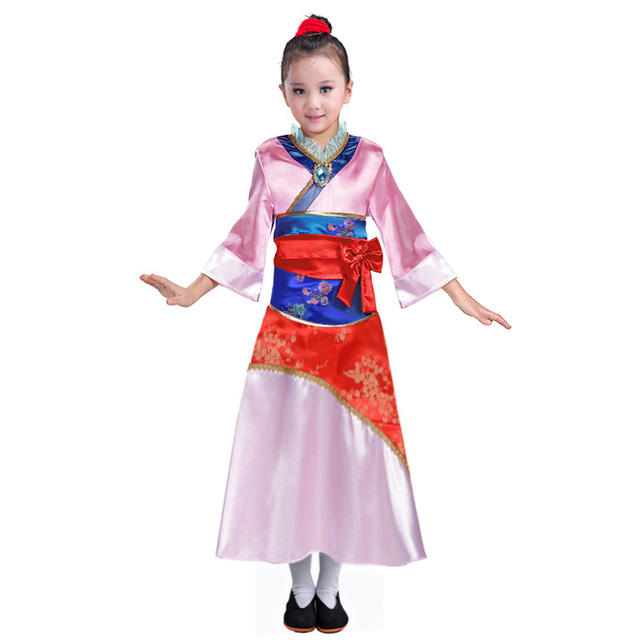 child mulan costume asian princess dress up outfit chinese tang dynasty traditional fancy dress halloween costumes