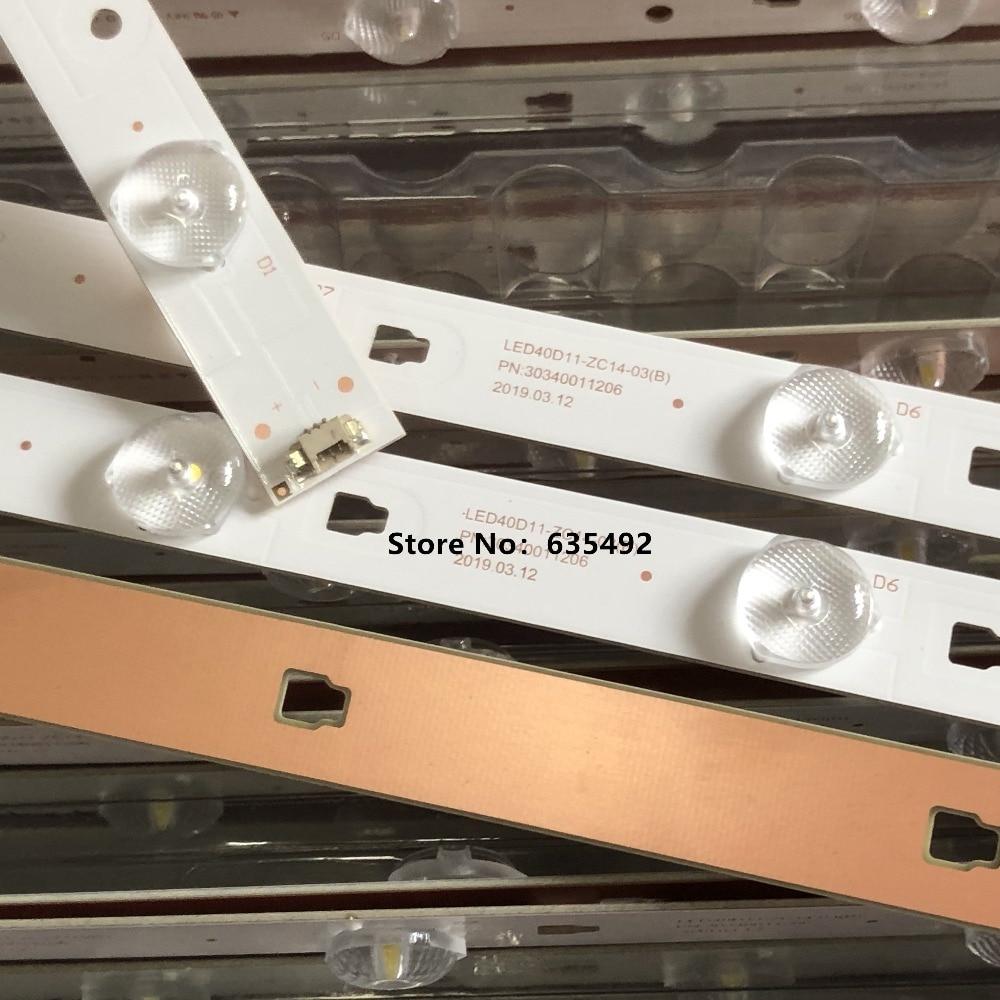 LED BacklightL Strip 11lamps For LE40F3000W Light Bar LT-40M645 LSC400HM06-8 LED40D11-ZC14-01 LED40D11-ZC14-02 30340011202/201