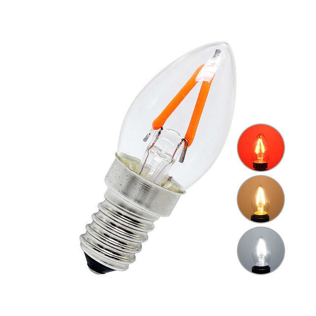 C7 Led Bulb >> Us 3 07 C7 2w E14 Led Filament Bulb Retro Led Vintage Night Light Ac 220v Warm White Cold White Red In Led Bulbs Tubes From Lights Lighting On