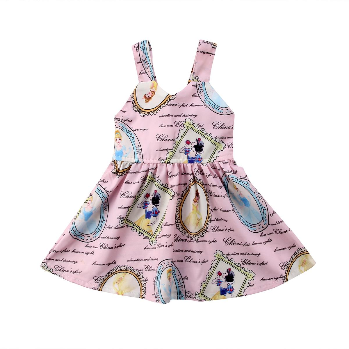 fae42a3bfa7 Kleinkind Neugeborenes Mädchen Prinzessin Nette Party Ärmelloses Kleid Tutu  Backless Bowknot Baumwolle Mini Kleid Baby Mädchen 0-3 T ~ Best Seller July  2019