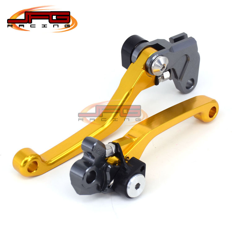 CNC Pivot Foldable Clutch Brake Lever For RM85 05-15 RM125 RM250 04-08 gold Supermoto Enduro Dirt Bike Off Road Motocross