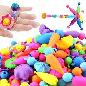 370 قطع البوب الخرز اللعب Creativel الفنون و الحرف للأطفال سوار المفاجئة معا مجوهرات الأزياء كيت التعليمية لعبة ل الأطفال