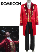 Movie The Greatest Showman P.T. Barnum Cospaly Costume Men Adults Red Uniform Halloween Carnival Party Stage Performance Clothes