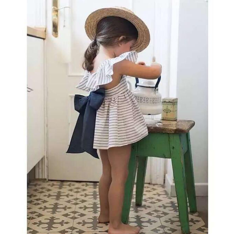 New-2017-Summer-Baby-Girls-Clothing-Sets-Fashion-Big-Bowknot-Striped-Dresses-Shorts-2pcslot-Girls-Clothes-Brand-Kids-Suits-1