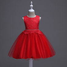 e52567dd45039 Nouvelle dentelle princesse fleur fille robe été Tutu fête de mariage enfants  robes pour filles enfants