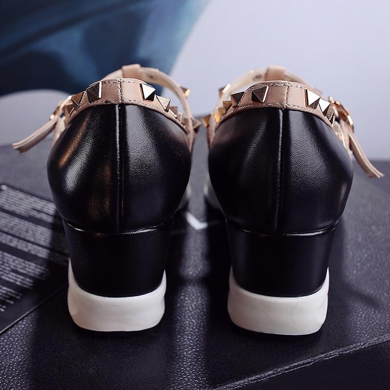 Slip De Pisos Marca black Punta Diseñador Jaula Las Ocio Alpargatas Cuero En T Bordeado Mujeres correa Verano Puntera Genuino La Zapatos on Remache Beige C0O54wqX4