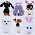 2016 New 15-26cm 6Styles The Secret Life of Pets Plush Toys Snowball Gidget Mel Chloe Buddy  Dogs & Cats & Rabbits Animal Dolls
