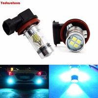 2XH7 H1 H3 H4 H8 H11 9005 9006 H10 100 W Super Bright LED lumières Ampoules pour Voiture Camion Brouillard Lumières Lampes Ou DRL Ice Remplacement Bleu