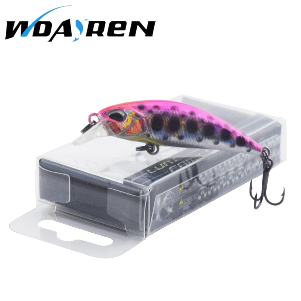 WDAIREN 1Pcs Mini Minnow Fishing Lures Hard Wobblers Crankbait for Fishing 5.5cm 4.5g Tackle Japan Hook artificial bait FA-489 hard pedal small mini water fishing