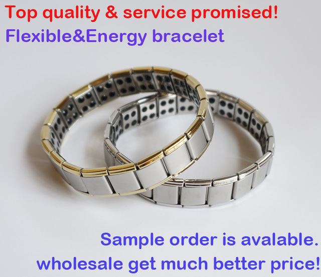 3pcs/lot&Hot sale!&Free shipping&Amazing energy!80 Germanium stone!Titanium bracelets S028B-G,energy bangles,health,top quality