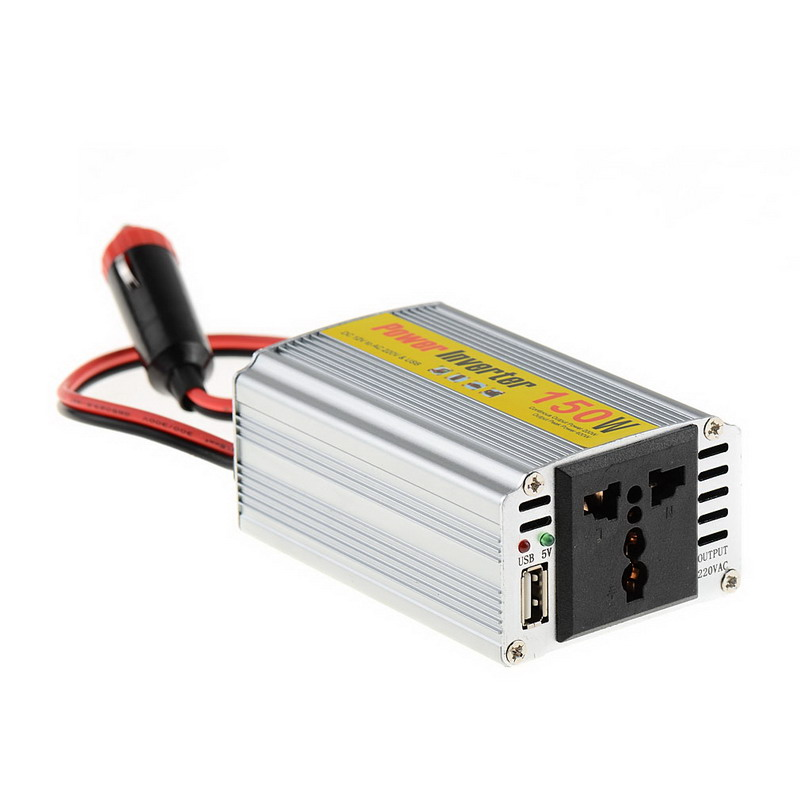 1 PC High Quality 150W Outlets Power Inverter DC 12V to AC 220V Car Adapter Laptop Smartphone VEJ98 P50 cxa l0612 vjl cxa l0612a vjl vml cxa l0612a vsl high pressure plate inverter
