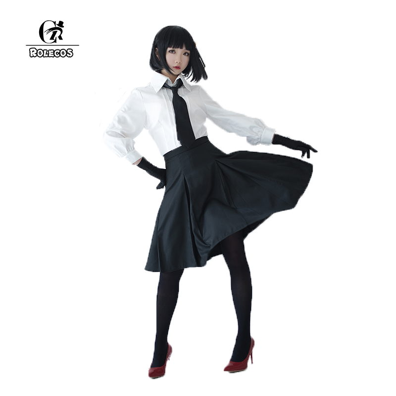 ROLECOS New Arrival Anime Bungou Stray Dogs Women Cosplay Costumes Akiko Yosano Shirt Skirt Costumes Unisex Halloween Costume