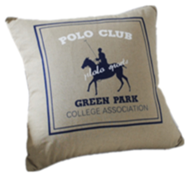 Aliexpress Buy Country Man Riding Horse Polo Club Green Park Cool College Decorative Pillows