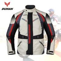 Духан мотоциклетная куртка мужская зимняя водостойкая Мужская байкерская куртка rbike средства защиты одежды Blouson Moto Armor куртка