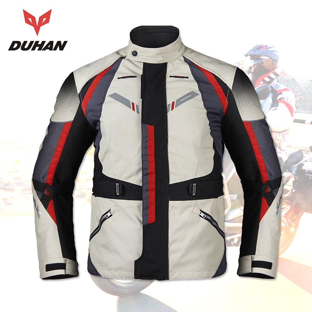 DUHAN Moto veste hommes hiver imperméable hommes Moto veste Moto vêtements protecteurs Blouson Moto armure veste
