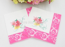 [RainLoong] Water Lily Paper Napkin Flower Festive & Party Tissue Napkin Supply Party Decoration Paper 33cm*33cm 20pcs/pack