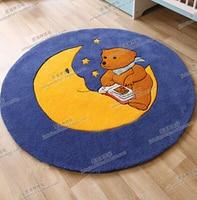Blue Moon child round carpet living room coffee table sofa bed bedroom custom handmade acrylic carpet