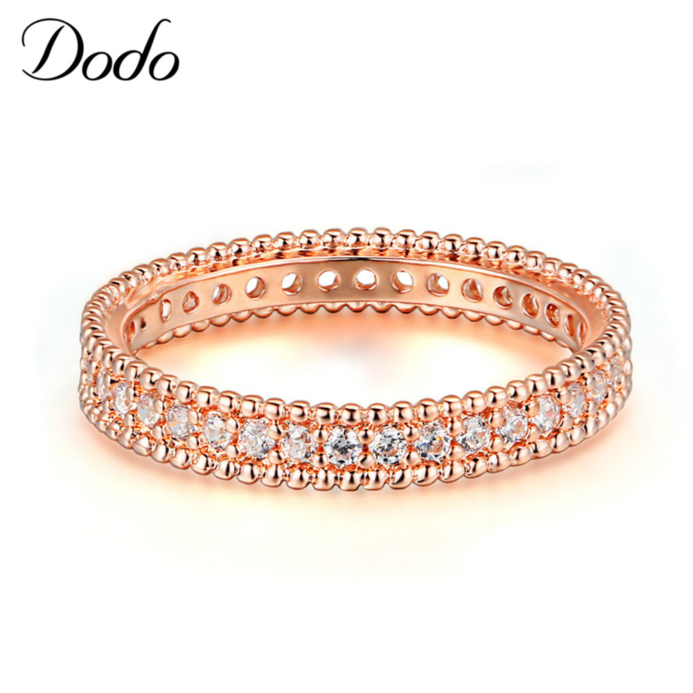 DODO 585 Rose Gold color Engagement Ring Jewelry For Women Wedding Band Anillos Bague Bijoux argent Crown ring bijouterie DR197