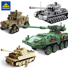купить KAZI  New Theme  Military Tank Model Building Blocks DIY Assembly Toys Educational Blocks  Toys For Children онлайн