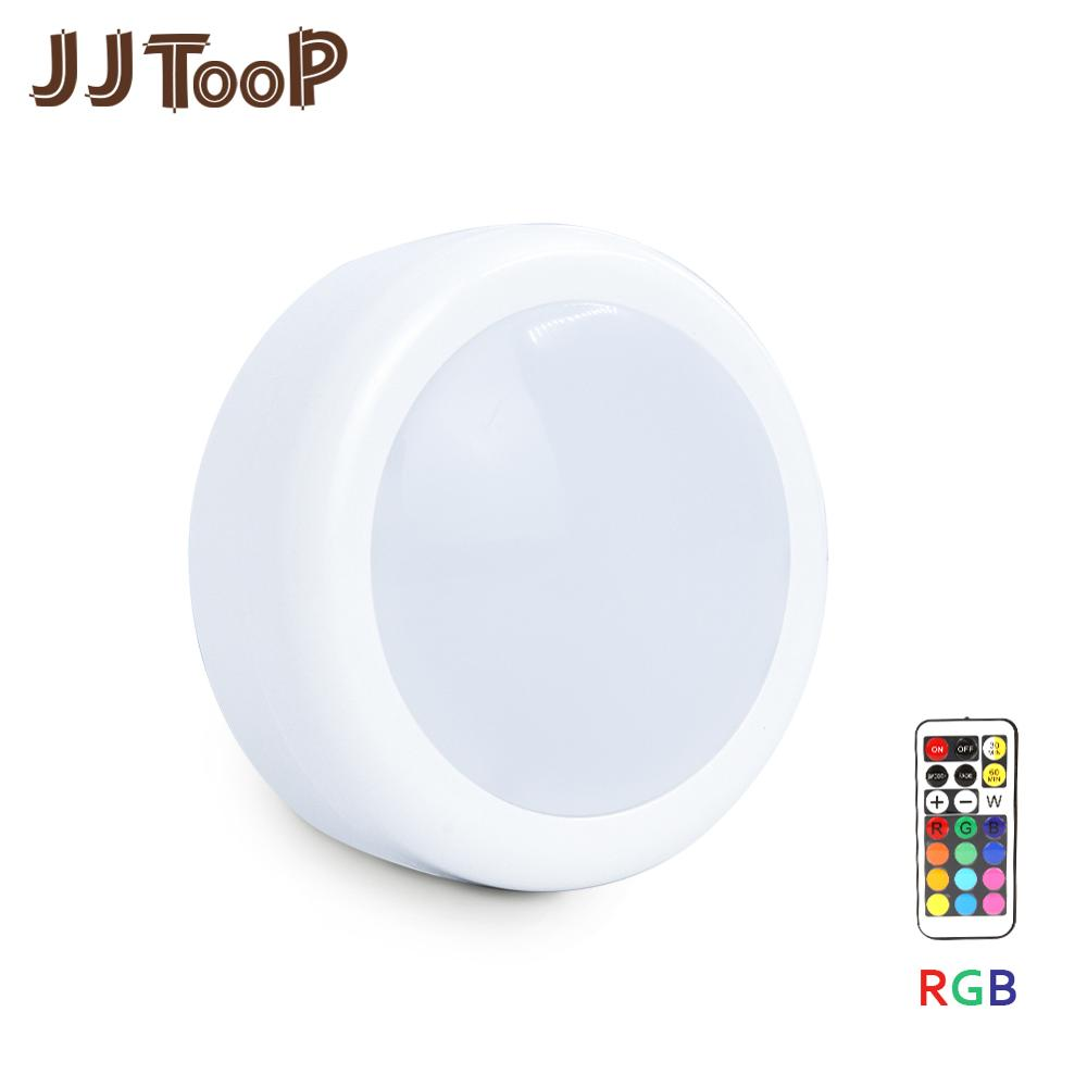 LED Under Cabinet Light Puck Touch Sensor RGB 12 Colors Dimmable 21 Key Wireless Wardrobe Stair Hallway Closet Night Lamp(China)