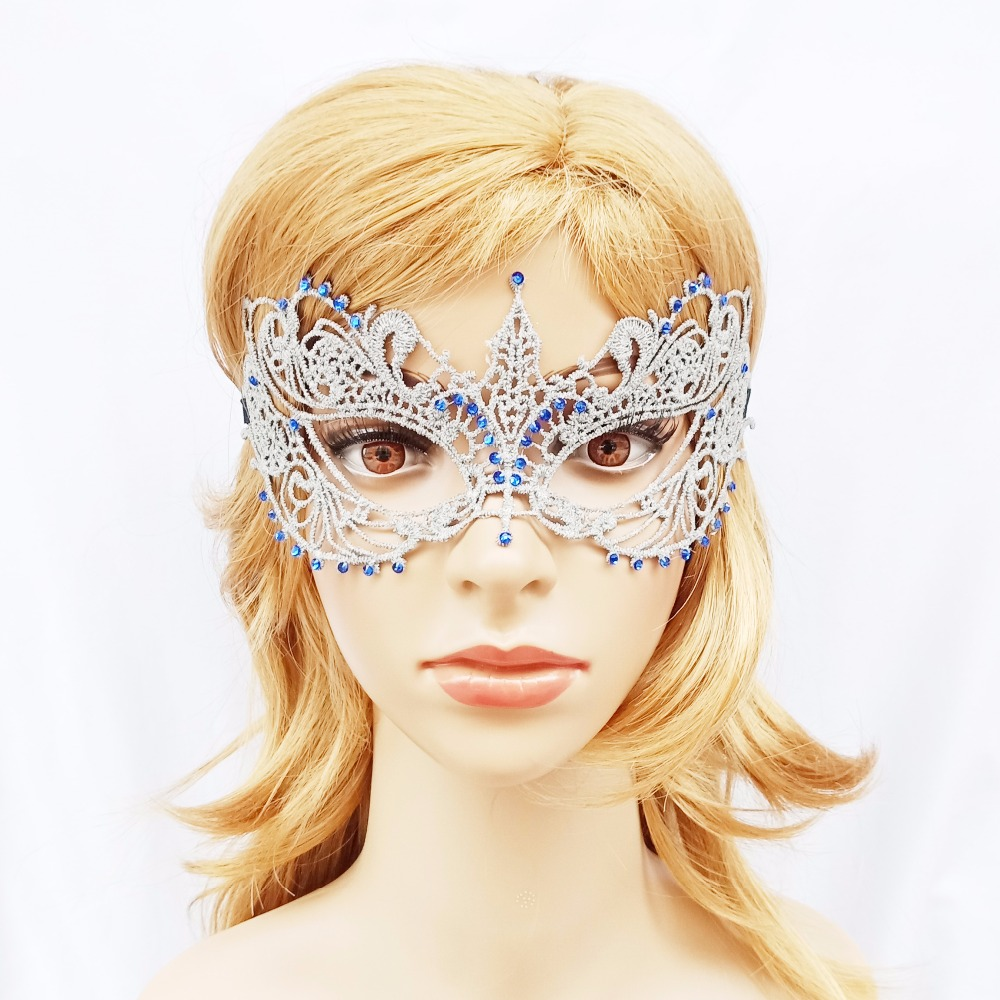 Sexy diamond lace Mask Women Party Cosplay Masquerade Dance Bar Carnival Halloween supplies Stage Performance Half Face Mask