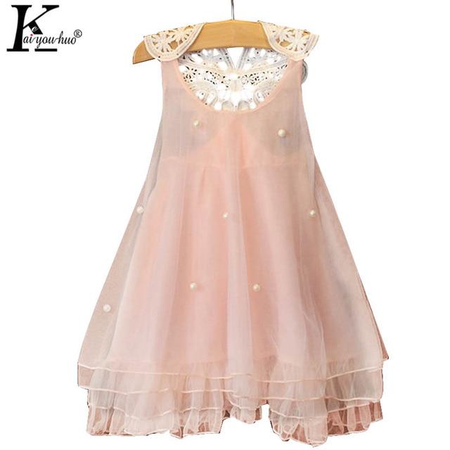 Vestido de verano vestidos gasa Niñas vestido niños partido Vestidos ...