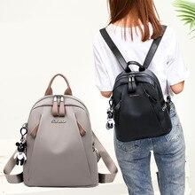 Wild Casual Shoulder Bag Practical Light Waterproof Students Travel Korean-Style Versatile Backpack Women