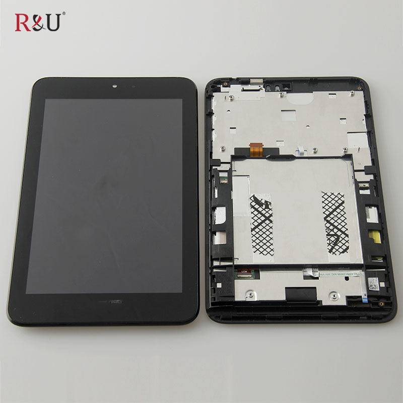 R&U test good lcd screen display touch screen glass digitizer assembly with frame replacement For ASUS VivoTab Note 8 M80TA M80T original 100% test lcd display touch screen digitizer assembly for samsung galaxy note edge n915 white with tempered glass tools