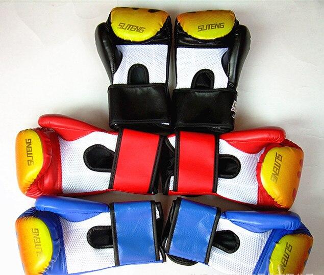 Shiv Naresh Teens Boxing Gloves 12oz: Pu Leather Boxing Gloves Male Muay Thai Boxing Gloves
