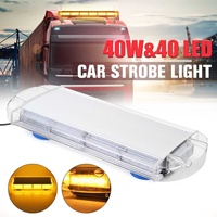 40LED 40W Warning Strobe Flashing Emergency Recovery Grille Light Bar Car Truck