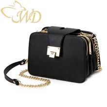 Women Shoulder Bag 2019 Multi-function PU Leather Shoulder Bag Strap Chain Ladies Handbag Black Woman Bag With Metal Buckle pu leather metal multi zips handbag