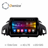 4G SIM LTE Android 6.0 Octa Core 2GB RAM+32GB ROM 9 inch Car DVD Player for Ford Kuga 2013 2017 GPS Navi Radio Stereo TPMS DAB