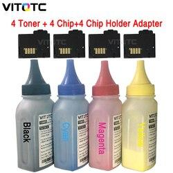 4 garrafa toner + 4 cartucho chip + 4 chip capa para xerox phaser 6020 6022 workcentre 6025 6027 impressora recarga em pó reset