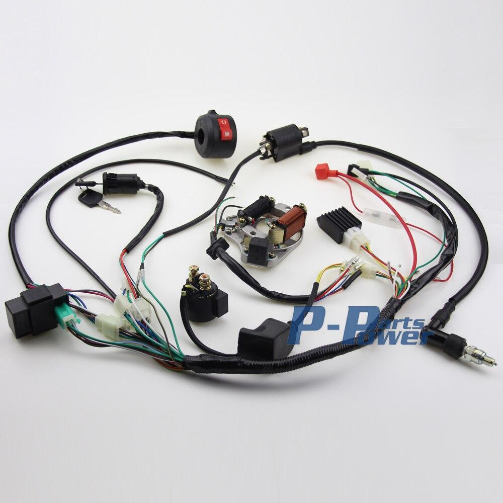 popular atv wiring harness buy cheap atv wiring harness lots from complete electrics atv klx stator 50cc 70cc 110cc 125cc coil cdi wiring harness shipping