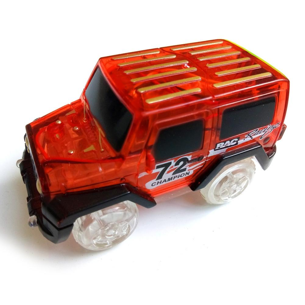 Image 2 - LeadingStar 1Pc Children LED Electric Car Toy for Glow Tracks Shining in the Dark Amazing Racetrack Race Car(Not Include Tracks)-in Diecasts & Toy Vehicles from Toys & Hobbies