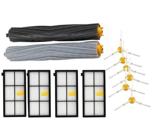 Tangle-free Debris Extractor + 4 Hepa Filters + 6 Side Brushes Kit for Irobot Roomba 800 860 864 870 880 980 replacement parts 6 frames reversible honey extractor for bee keeping